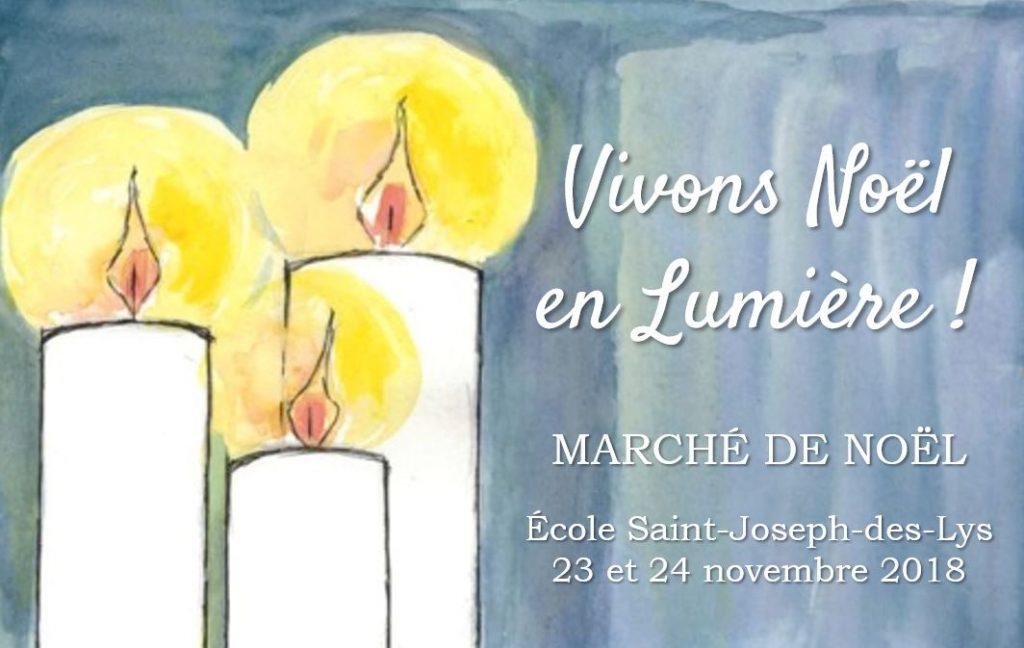 Marché de Noël de Saint Joseph des Lys 23 et 24 novembre
