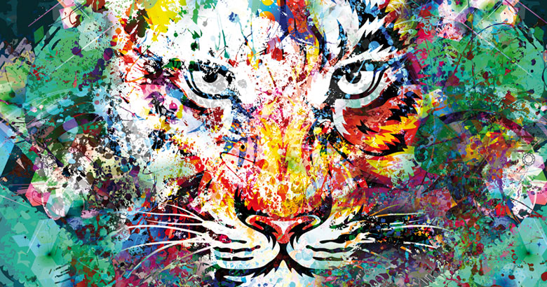Tableau Tigre tendance déco Jungle