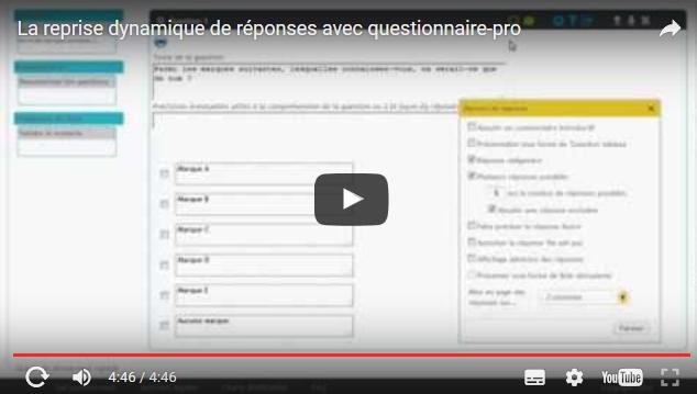 Image Vidéo Reprise dynamique de réponses